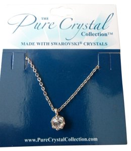 Swarovski Swarovski Crystal Solitaire Pendant Necklace New On Card