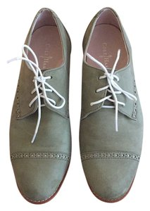 Cole Haan Oxford Leather Comfortable Great Color Fern/Ivory (Green upper with ivory sole) Flats