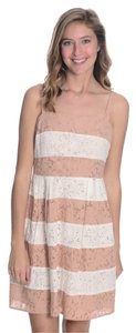Ann Taylor LOFT short dress Pink and White Stripe on Tradesy