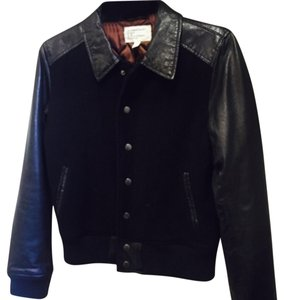 Current/Elliott Varsity Bomber Leather Leather Jacket