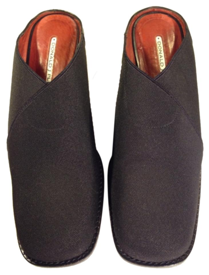 Donald J. Pliner Black Stylish Mules/Slides Djp Fabric Body Slip-on Mules/Slides Stylish bf302b