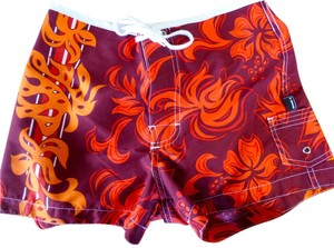 Hobie Toes To The Nose Board Board Shorts Maroon/Orange