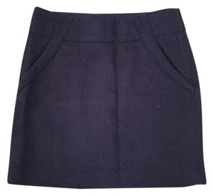 Ann Taylor LOFT Mini Skirt blue