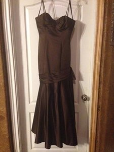 Melissa Sweet Chocolate Brown Polyester Rn 18258 Formal Bridesmaid Mob Dress Size 4 S