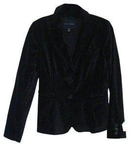 Banana Republic Like New Velvet Striped Black Blazer