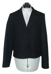 Tahari Chanel Armani Wool Black Blazer