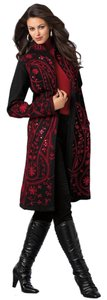 Embroidered Wool Coat Different Sizes Jackets Long Coat