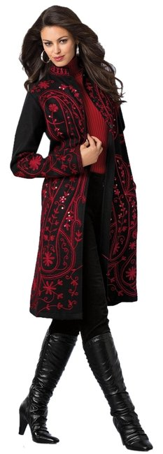 Embroidered Wool Coat Different Sizes To Chose From Jackets Sequins Dress Coat