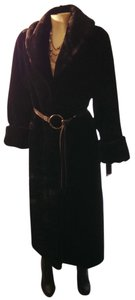 Pamela McCoy Faux Fur Evening Mink Full Length Vegan Fur Coat