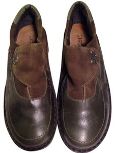 Naot Green, Brown Wedges
