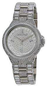 Michael Kors Crystal Pave Silver tone Stainless Steel Luxury Mini Ladies Watch
