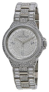 Michael Kors Crystal Encrusted Stainless Steel Silver Designer Watch