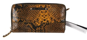 Rebecca Minkoff * Rebecca Minkoff Python Yellow Large Zip Around Wallet