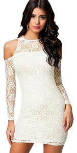 Hot Miami Styles short dress white Lace Cut Out Sexy Bebe Baby on Tradesy