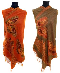 Other Double Sided Pashmina Fringed Shawl Wrap Free Shipping
