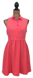 One Clothing short dress Coral on Tradesy