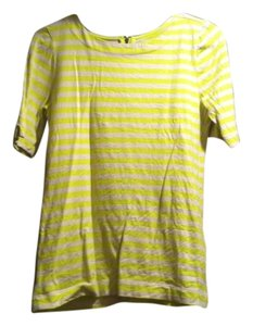 Ann Taylor LOFT T Shirt Cream and Bright Yellow