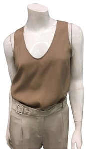 Brunello Cucinelli Bruno Silk Basic Top taupe