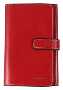 Lodis * Lodis Red Leather Trifold Wallet