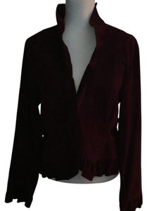 INC International Concepts Deep purple wine Leather Jacket