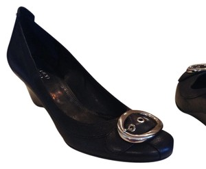 Franco Sarto Black leather Wedges