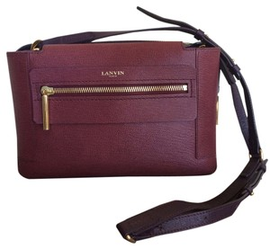Lanvin Leather Paris Cross Body Bag