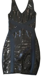 bebe Sequin Mini Bandage Bodycon Dress