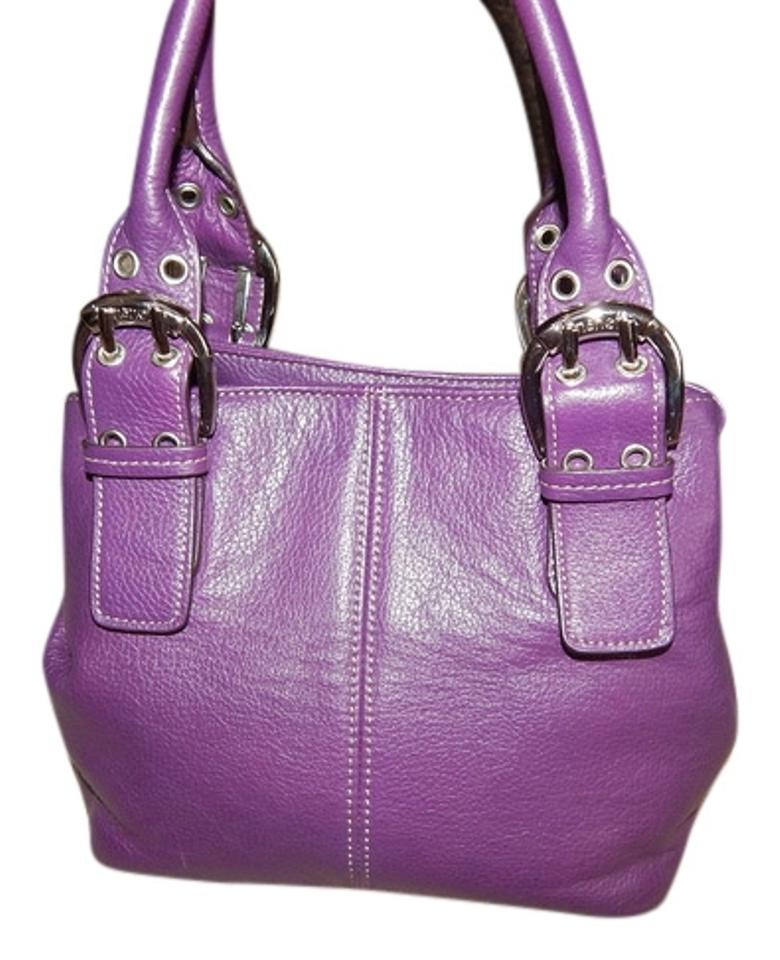 978097c4ed Tignanello Purse Grape Handbag Buckle Tote Purse Uc Mint Bucket ...