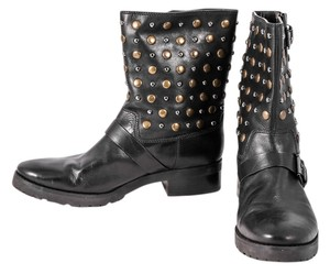 Michael Kors Studded Leather Black Boots