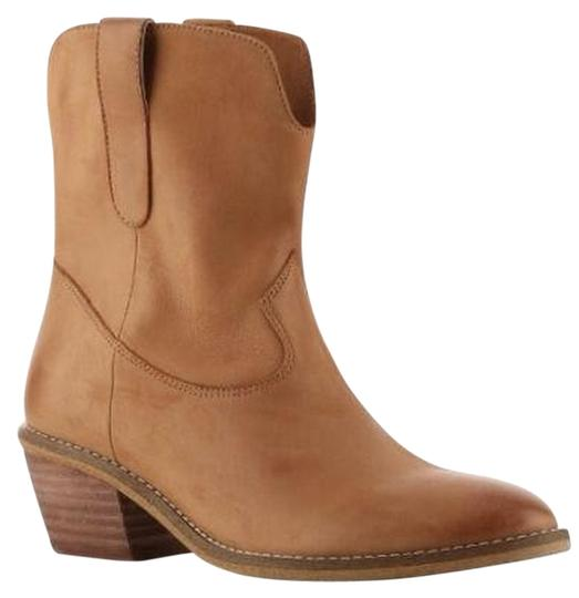 Crown Vintage Leather Western Ankle Tan Boots
