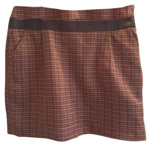 The Limited Mini Skirt Brown and cream