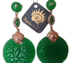 Angelique de Paris Jade Shanghai Earrings