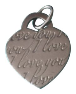 Tiffany & Co. Tiffany Silver Medium I LOVE YOU heart Tag Charm
