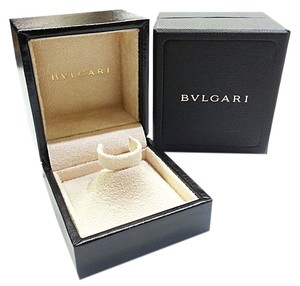 BVLGARI Leather Ring Box With Suede Pyramid Holder