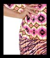 Carmen Marc Valvo XS/S 'african Sunset' Kimono Sleeve Cover Up Image 2