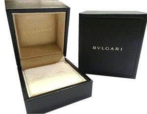 BVLGARI Small Leather Ring Box With Suede Inside