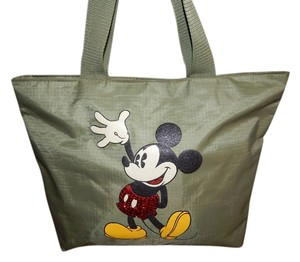 Disney Walt Mickey Mouse Tote in Olive Green Red Black