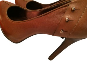 Guess Biker Brown and Gold Pumps
