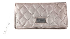 Kenneth Cole Reaction * Kenneth Cole Reaction Wallet Metallic Quilted Foldover Slim Clutch