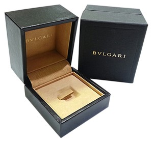 BVLGARI Leather Ring Box With Spring loaded Holder