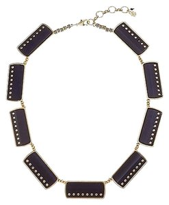 Lucky Brand Lucky Brand Gold Tone Black Horn Onyx Collar Statement Necklace NWT $79