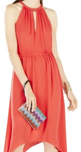 BCBGMAXAZRIA Flowy Resort Wedding Party Night Out Summer Spring Lightweight Dress