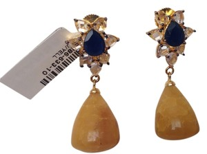 Bansri Yellow Quartz drop earrings
