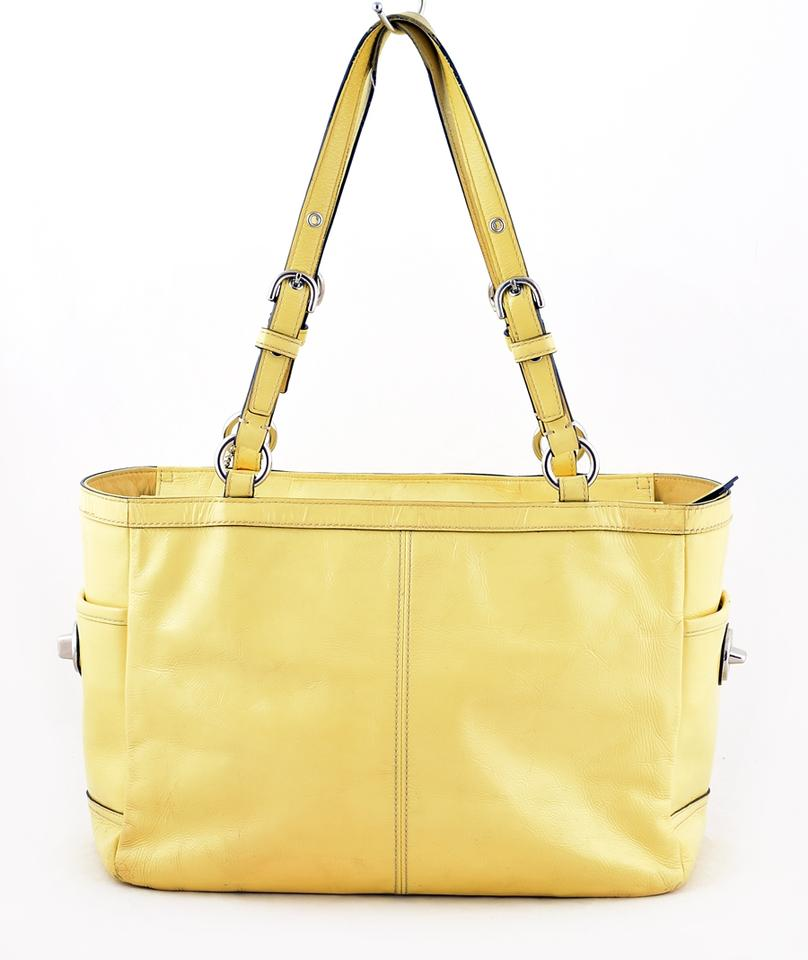 09599bcfe21b Coach F13761 Gallery Tote Yellow Patent Leather Shoulder Bag - Tradesy