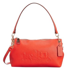 Coach Charley Embossed Shoulder Apricot 33521 Cross Body Bag