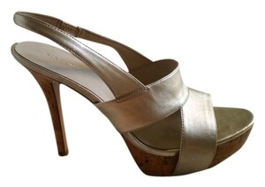 Nine West Platform Slingback gold Platforms