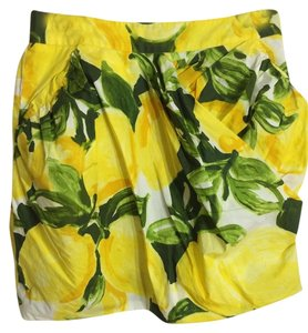 Moschino Mini Skirt Yellow/green