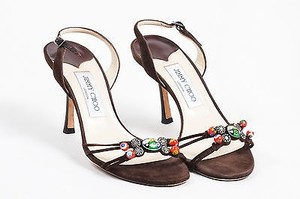 Jimmy Choo Multicolor Brown Sandals