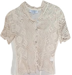 Laundry by Shelli Segal Button Down Shirt Ivory