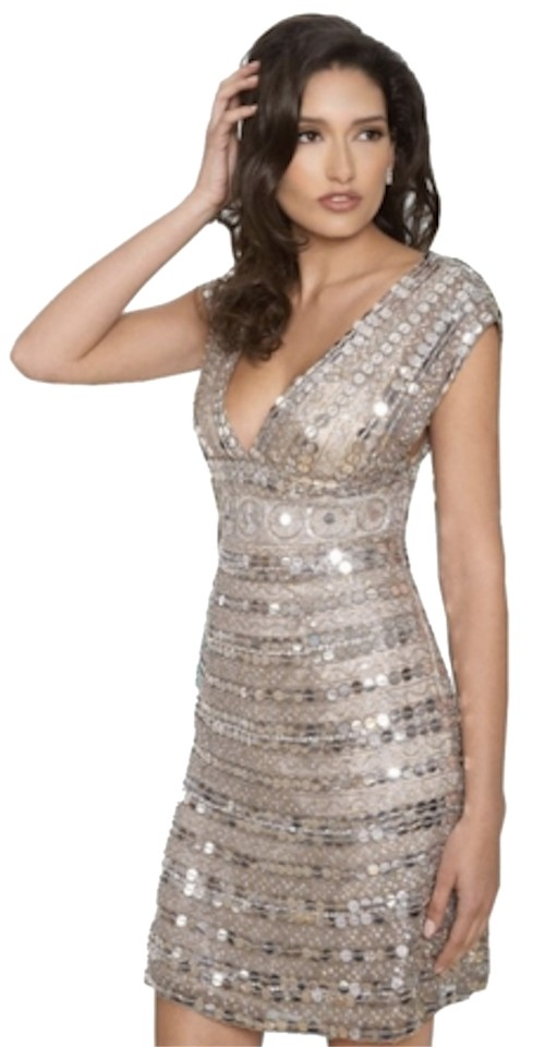 Scala Silver Sequin Sequin 14107 Dress - 66% Off Retail